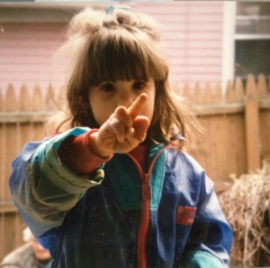 This is me at age 4, demonstrating just how strong my views were...